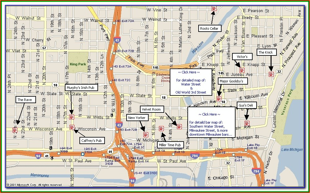 Map Of Downtown Milwaukee Hotels