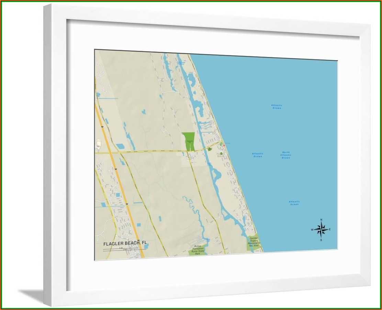 Map Of Flagler Beach Fl