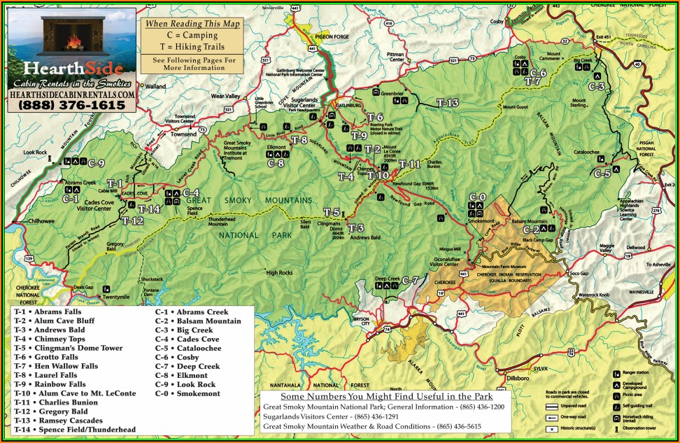 Map Of Great Smoky Mountains National Park Campgrounds