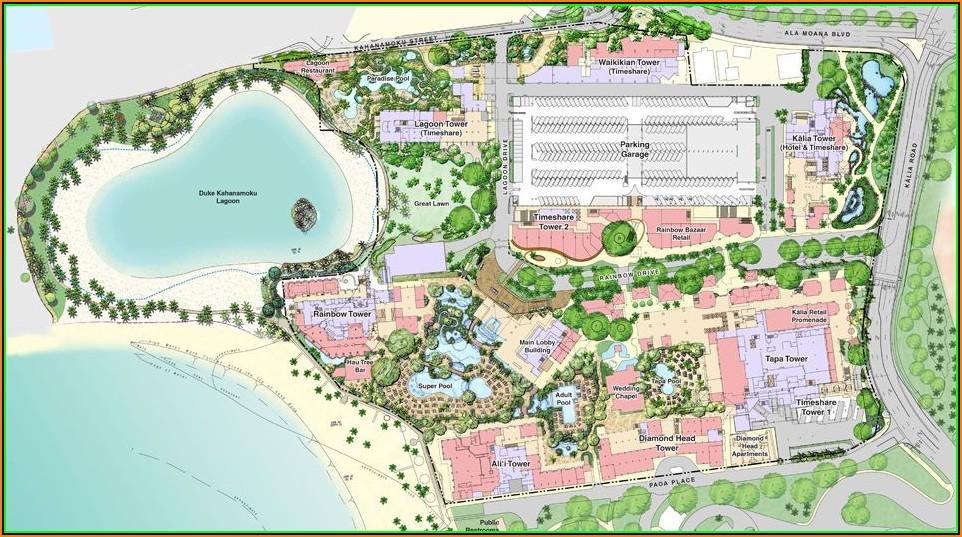 Map Of Hilton Hotels In Oahu