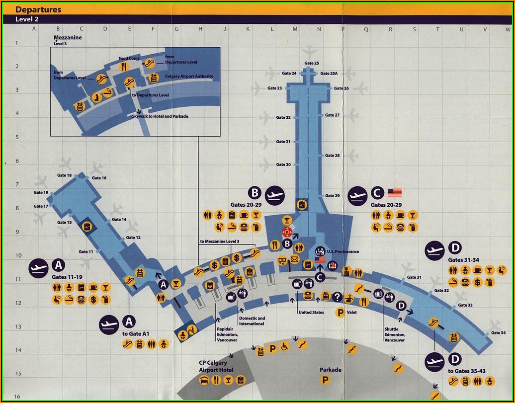 Map Of Hotels Around Calgary Airport