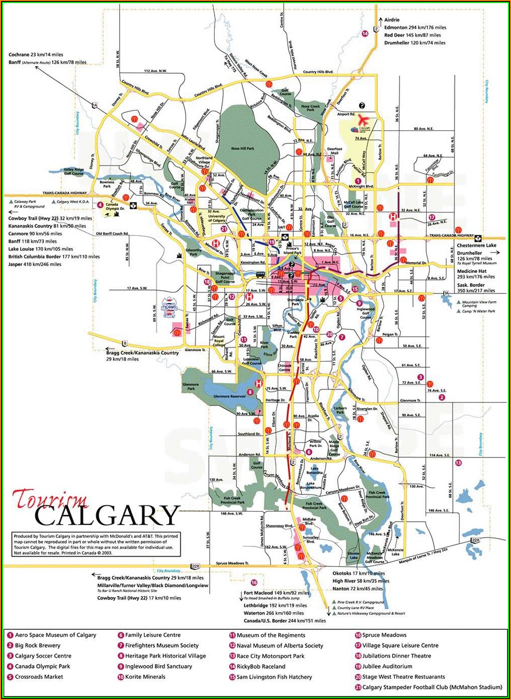 Map Of Hotels In Downtown Calgary