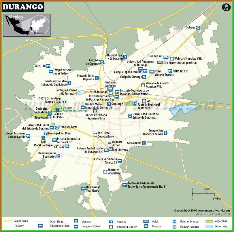 Map Of Hotels In Durango Co
