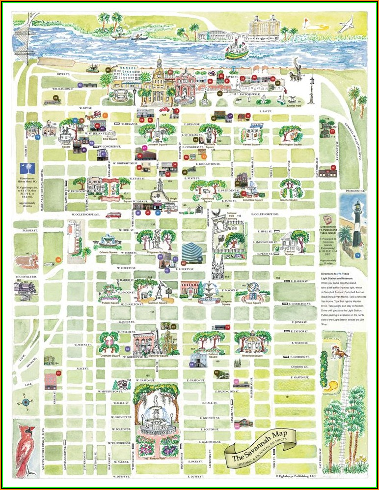 Map Of Hotels In Savannah Ga Historic District