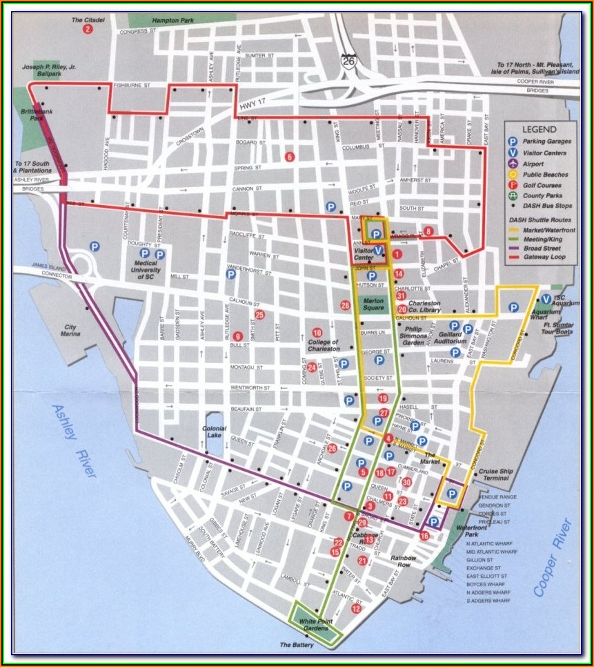 Map Of Hotels Near Charleston Sc Airport