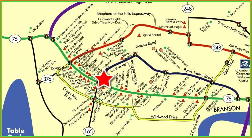 Map Of Motels In Branson Missouri