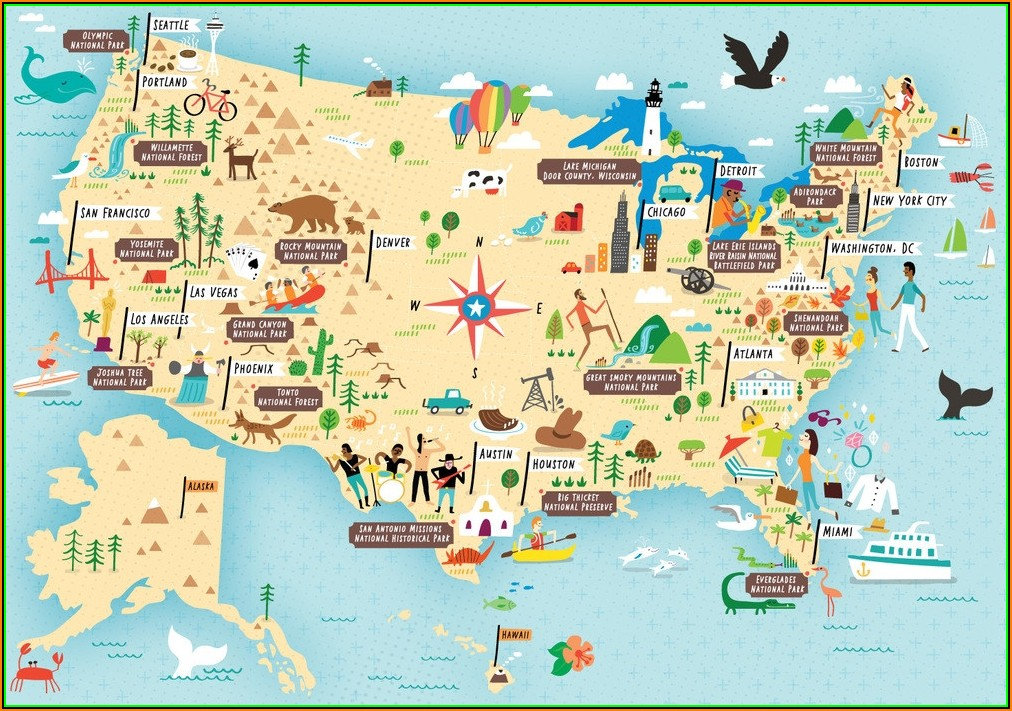 Map Of National Parks And Monuments