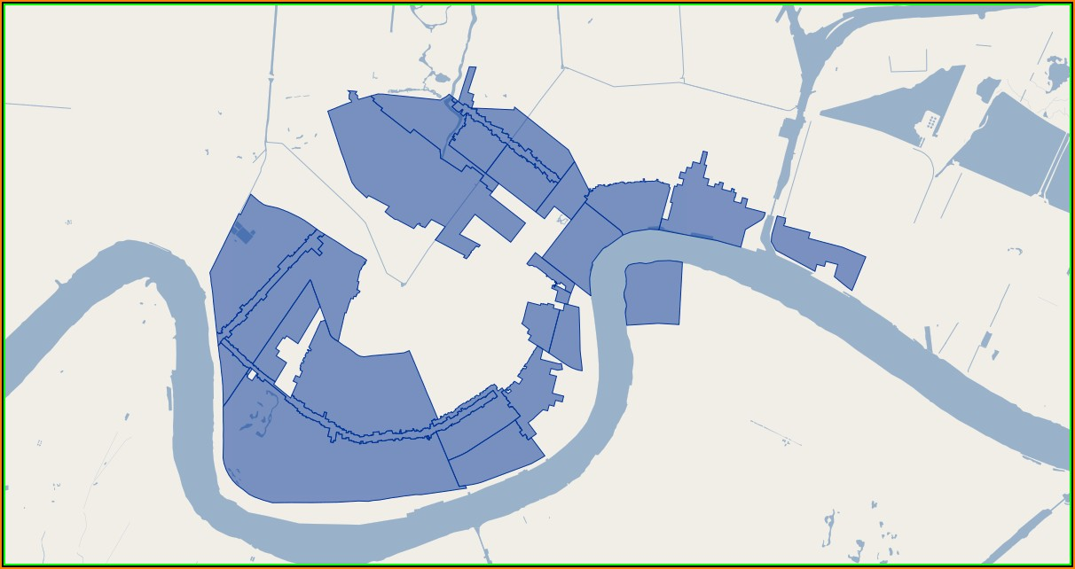 Map Of New Orleans Historic Districts