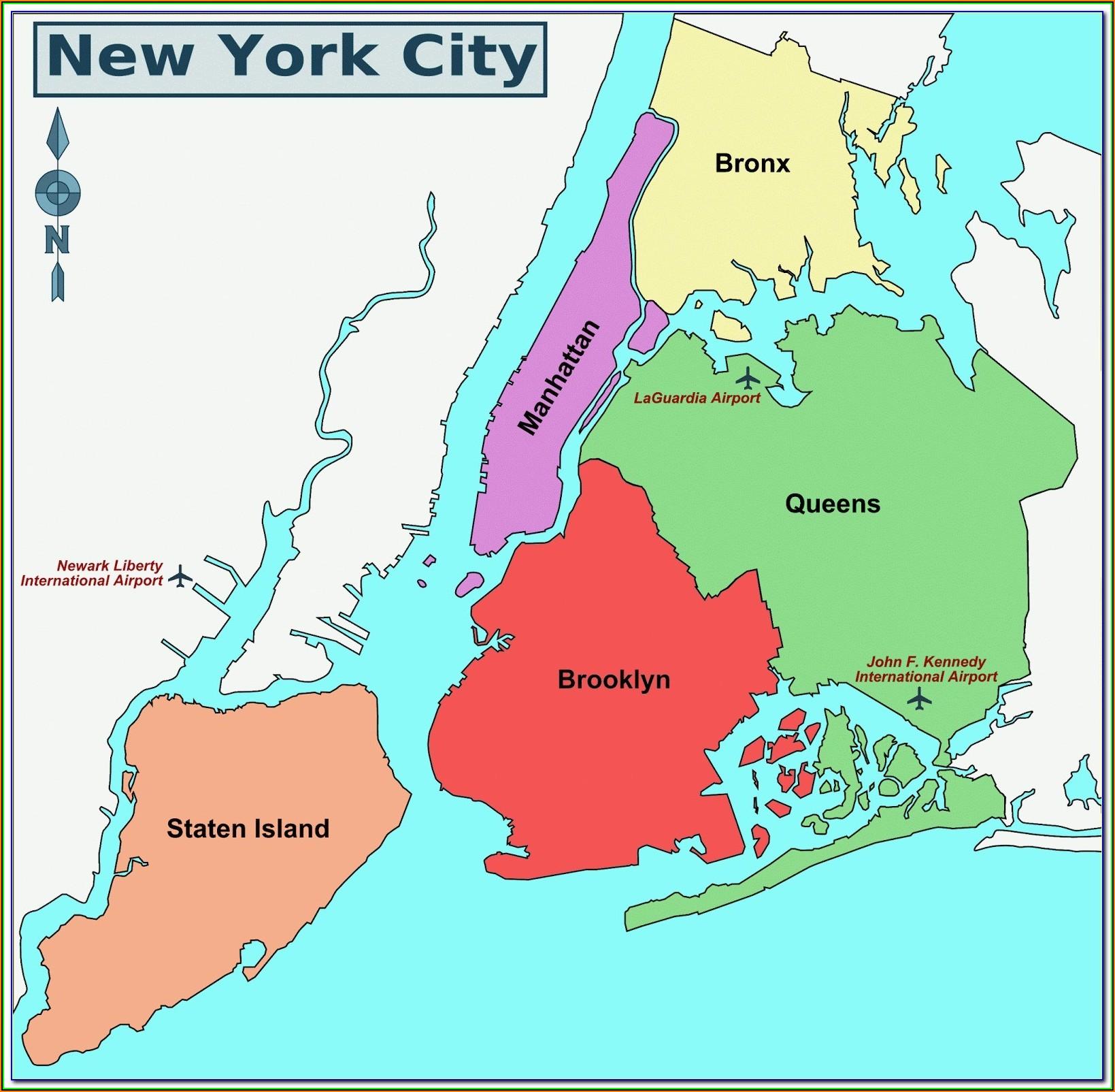 Map Of New York City Manhattan Neighborhoods