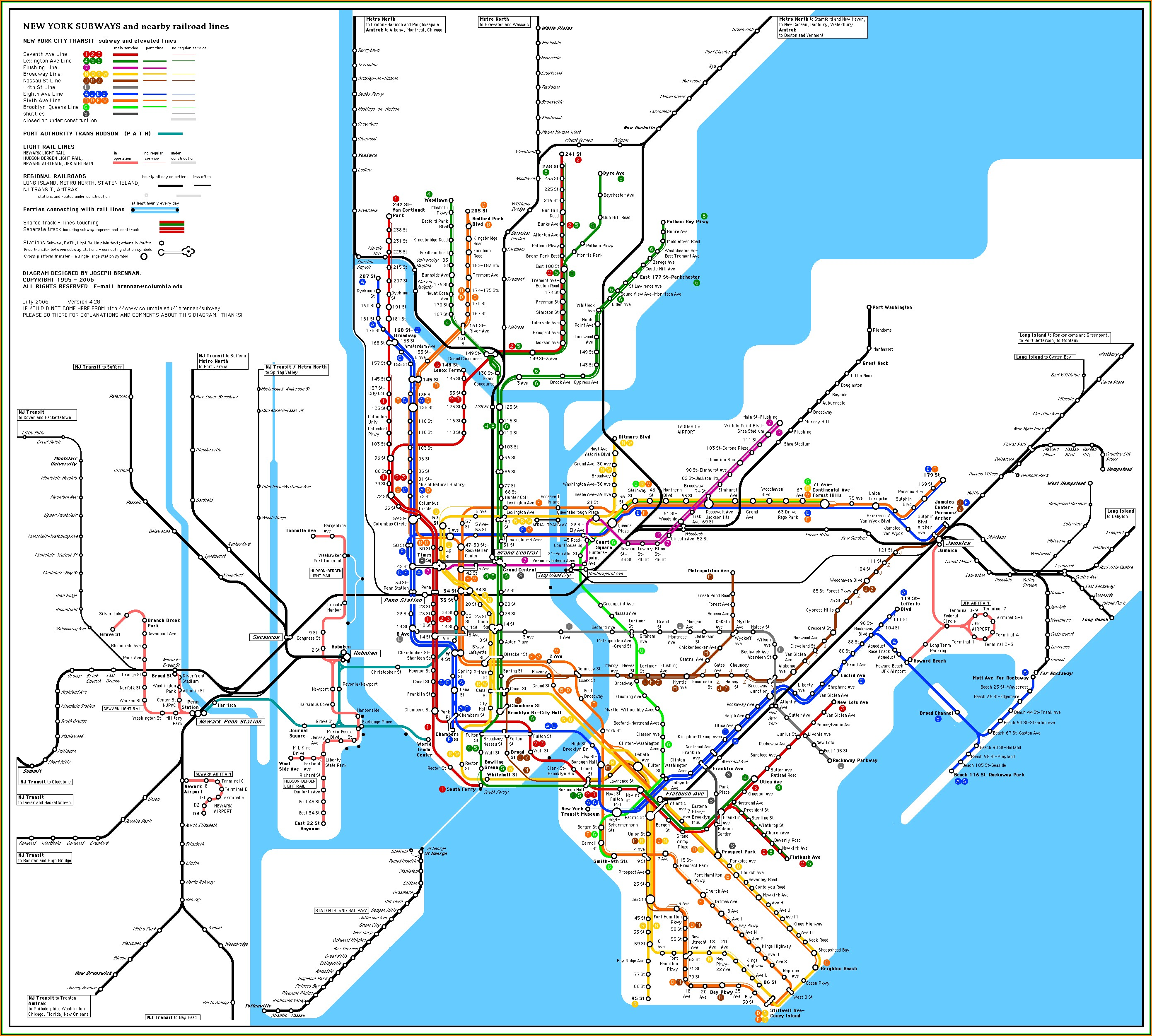 Map Of New York Metro Train