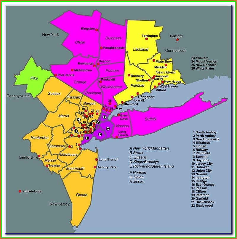 Map Of Nyc Metropolitan Area