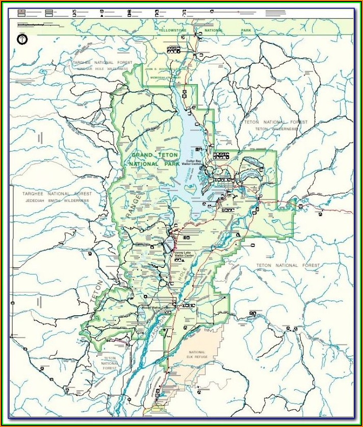 Map Of The Grand Tetons And Yellowstone
