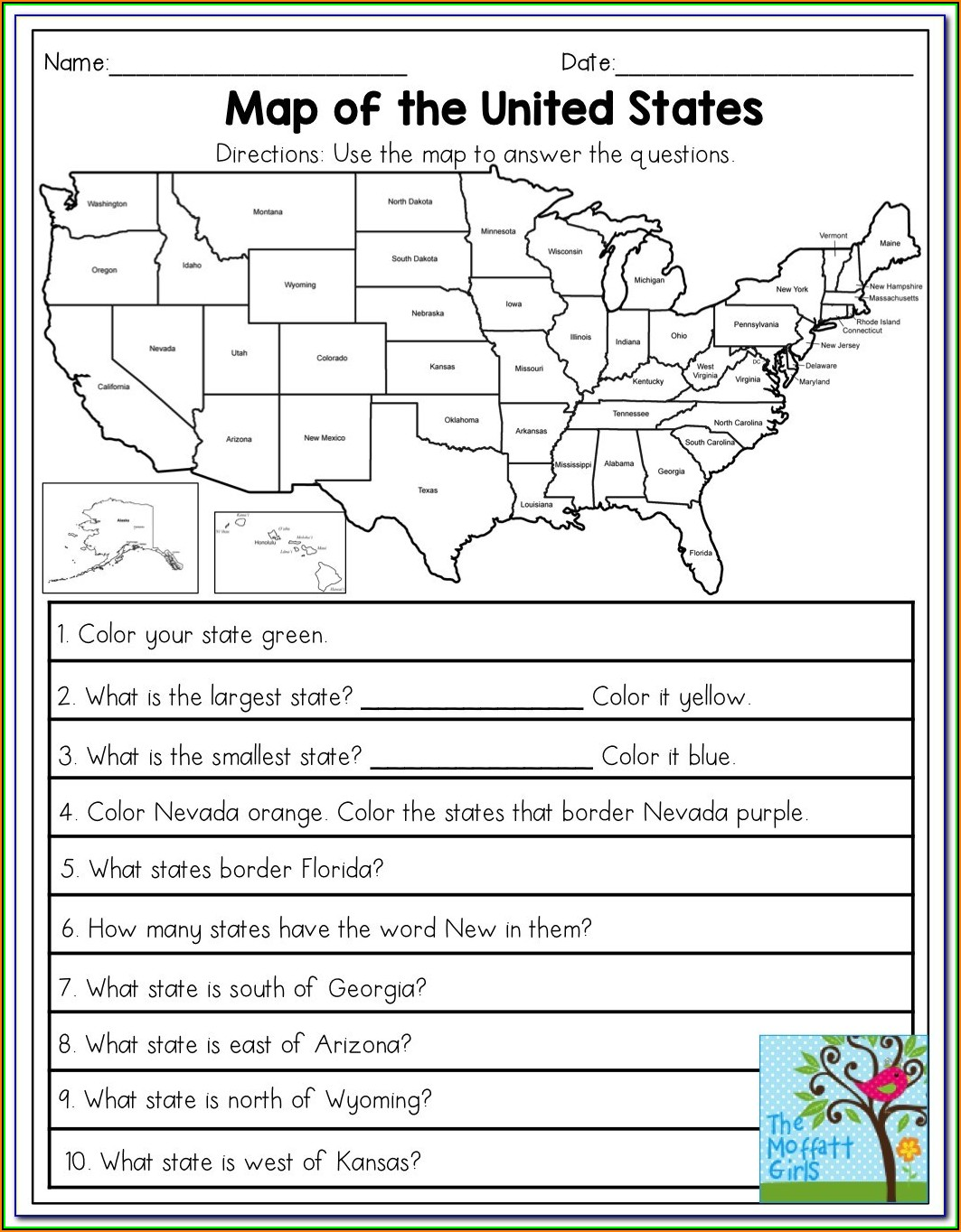 Map Practice Test For 3rd Grade