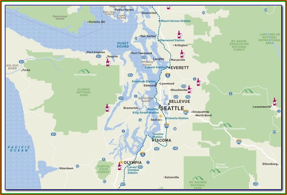 Map Puget Sound Washington