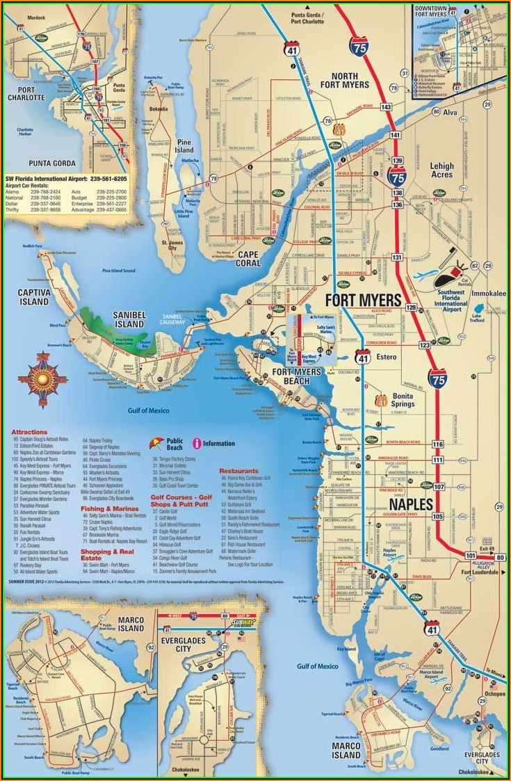 Map Showing Sanibel Island Florida