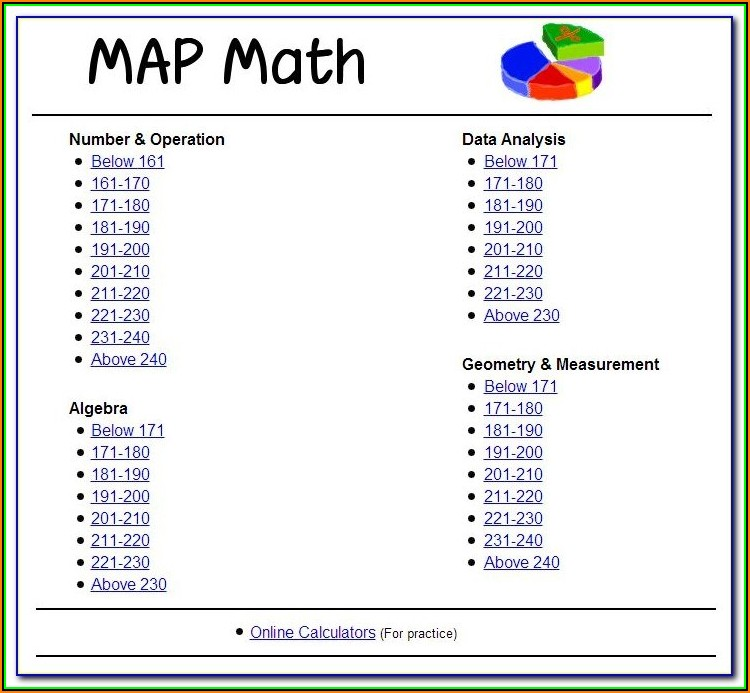 Map Test Practice 3rd Grade Free