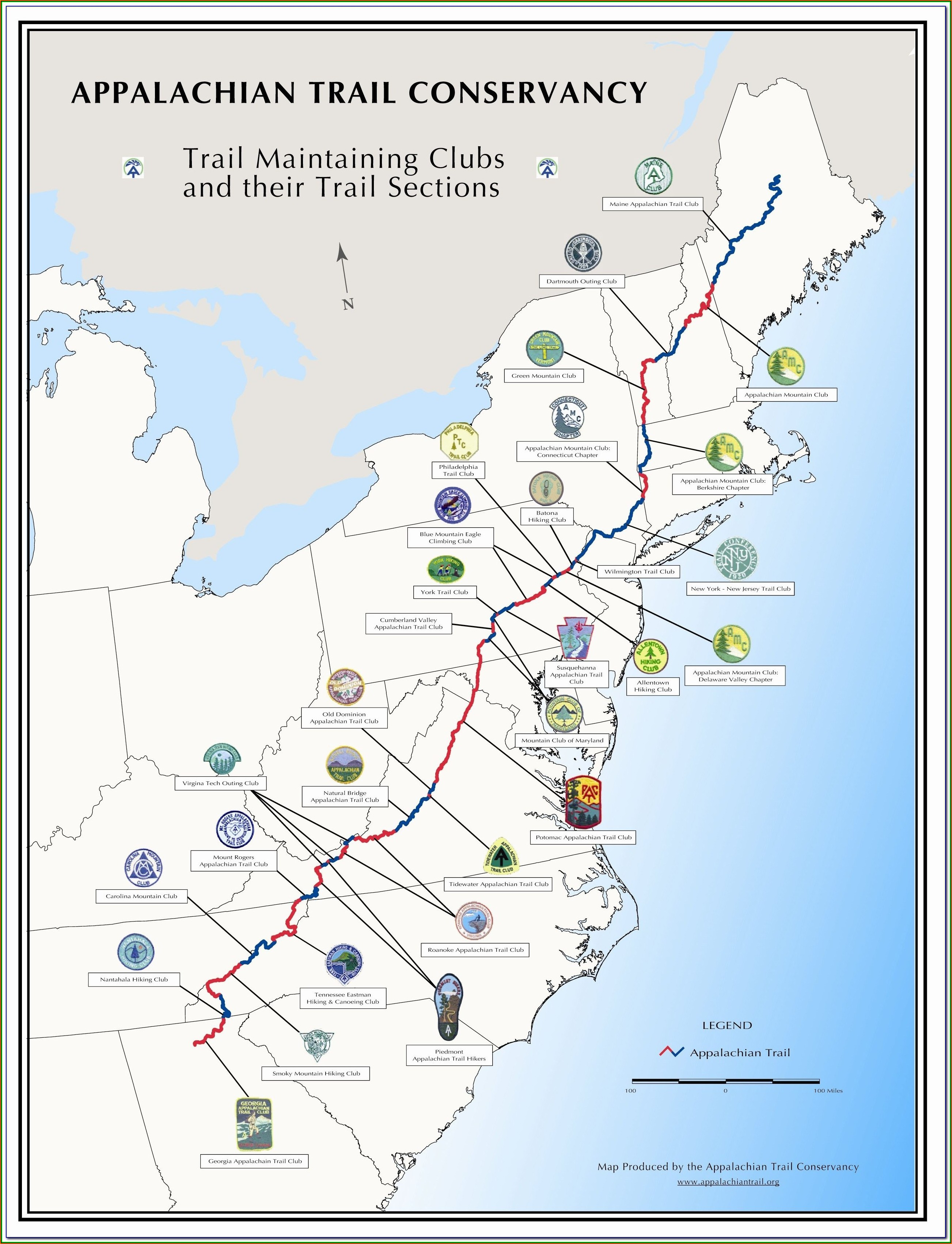 Maps Of Appalachian Trail