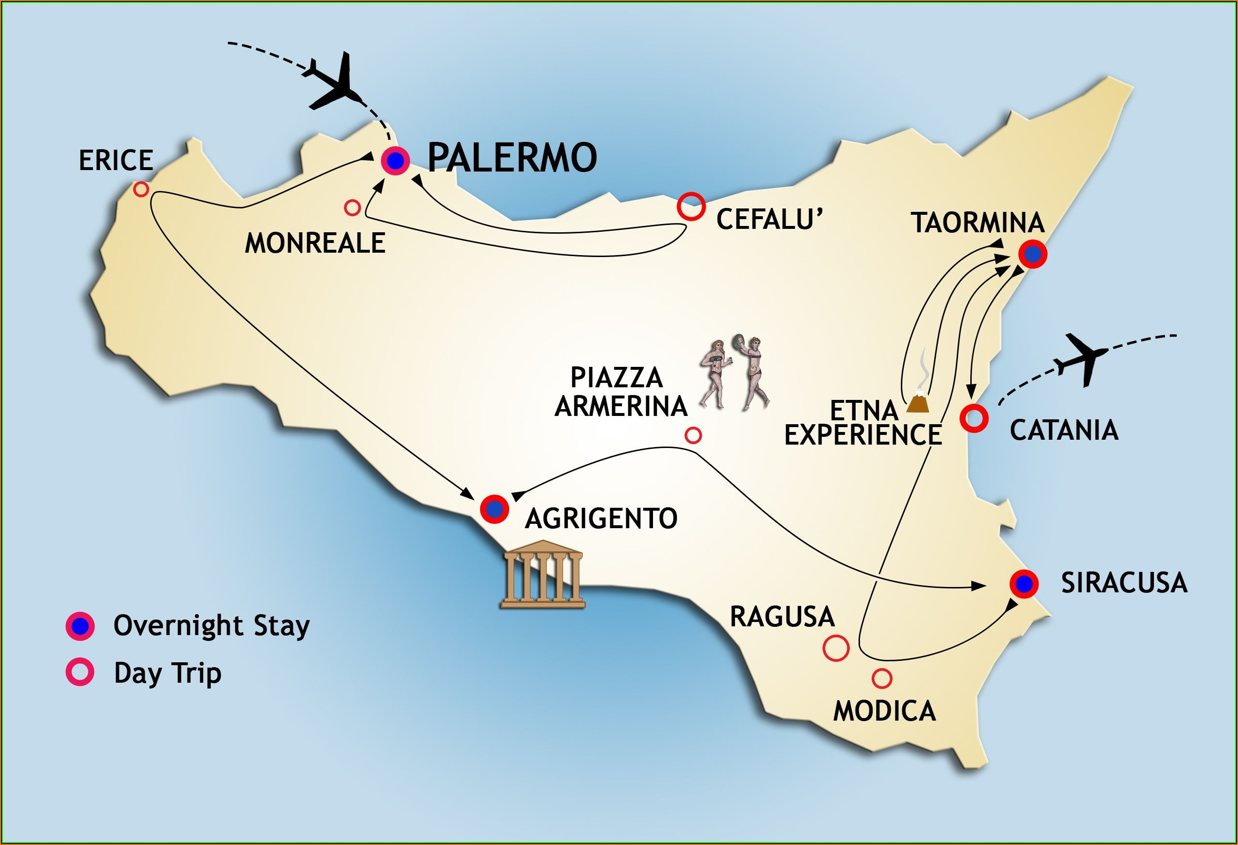 Maps Of Sicily Airports