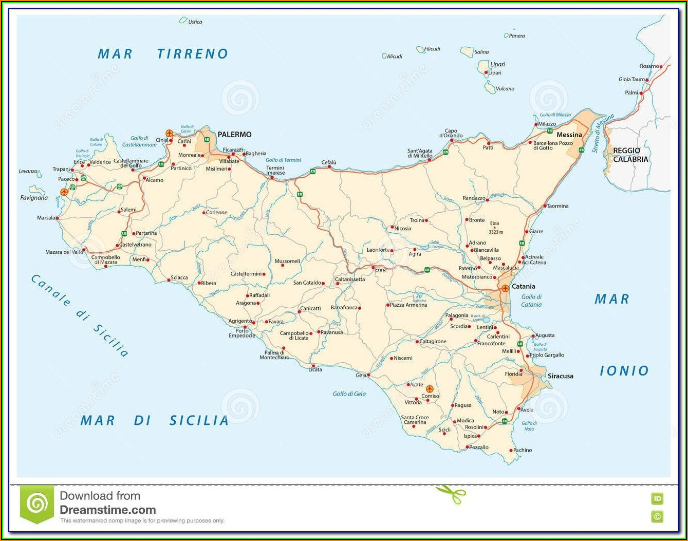 Maps Of Sicily