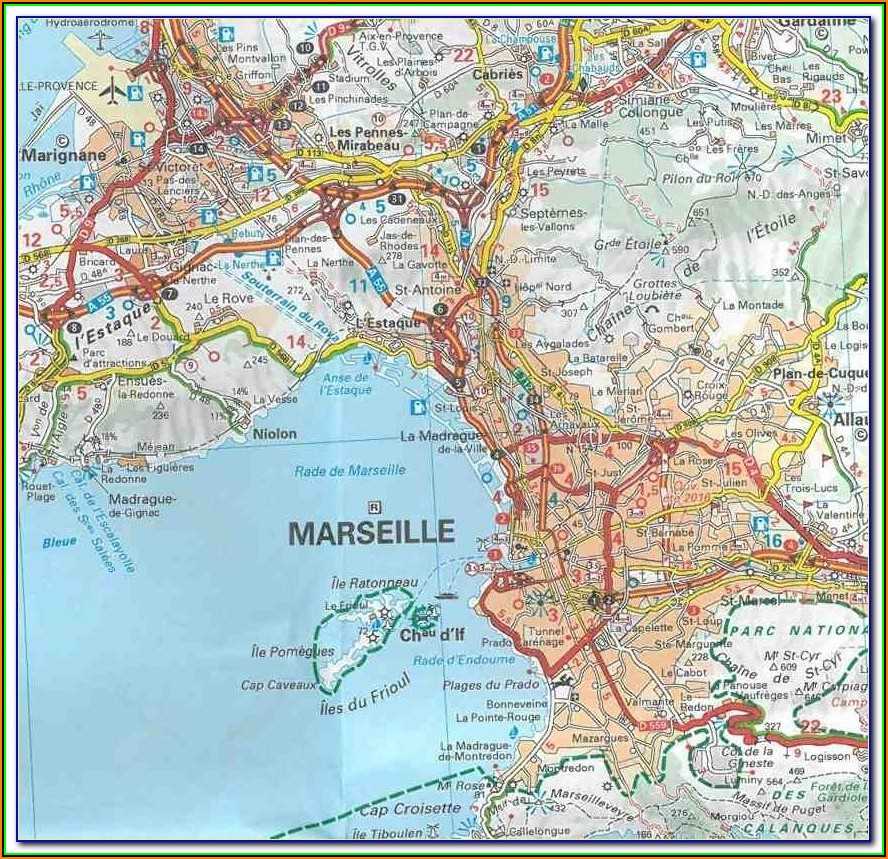 Michelin Map Aix En Provence