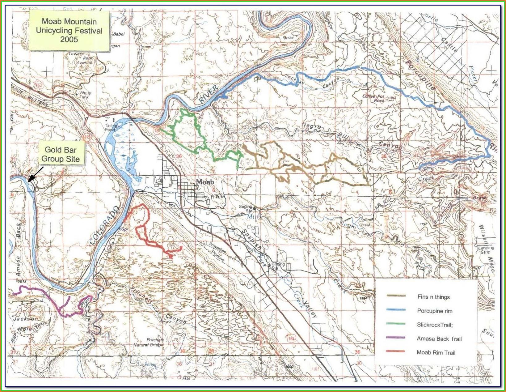 Moab Utah Atv Trail Maps