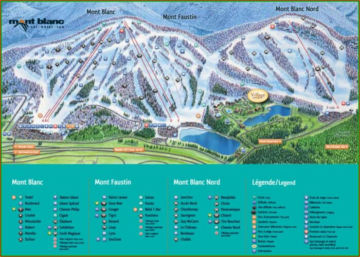 Mont Blanc Trail Map Canada