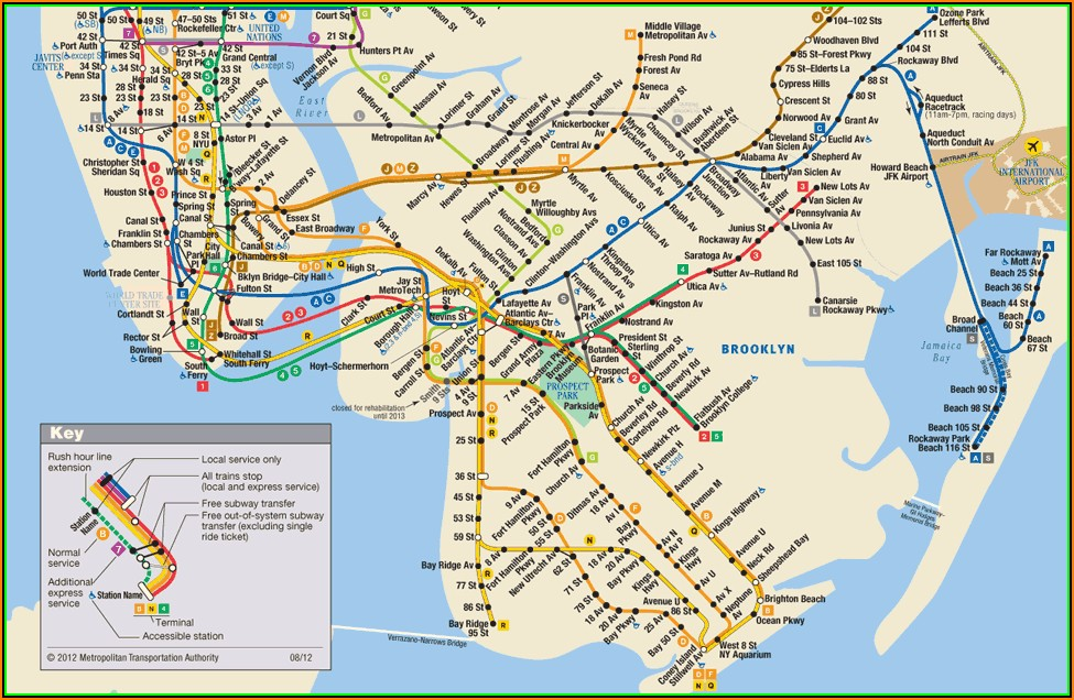 Mta New York Subway Station Map