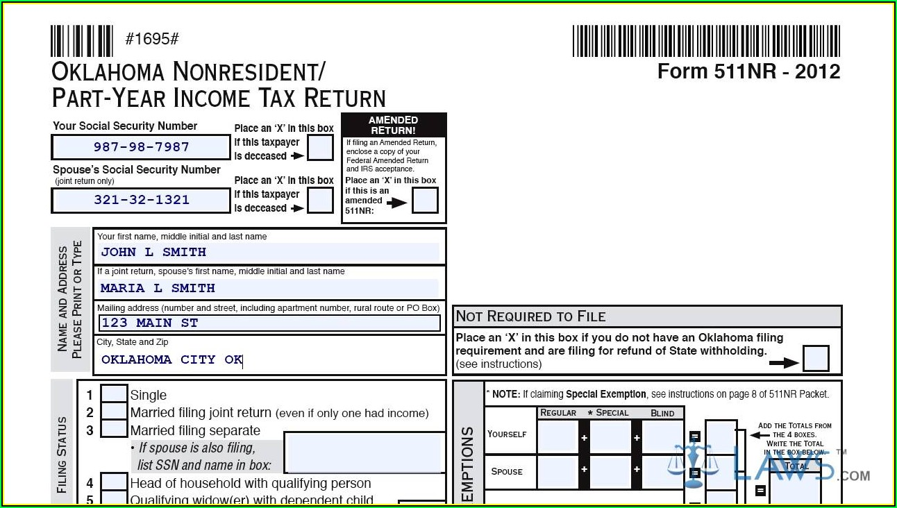 Oklahoma Sales Tax Report Form