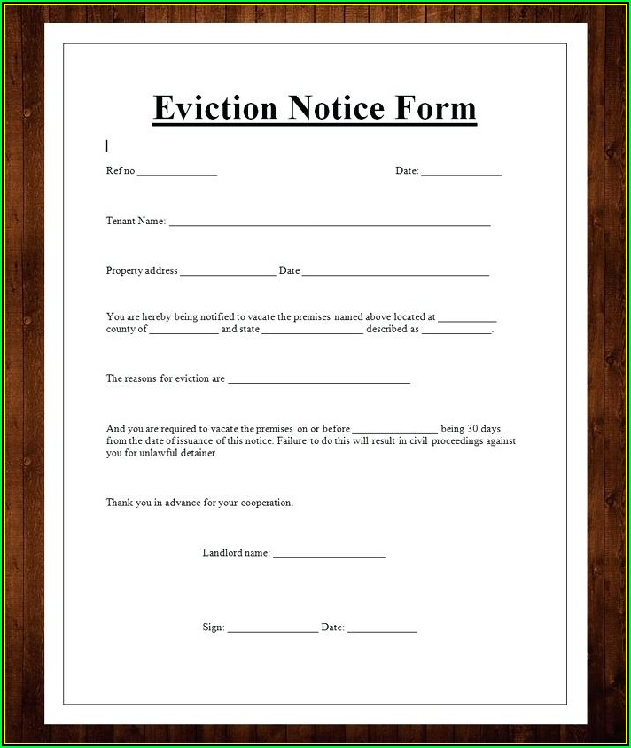 Pa Eviction Notice Sample