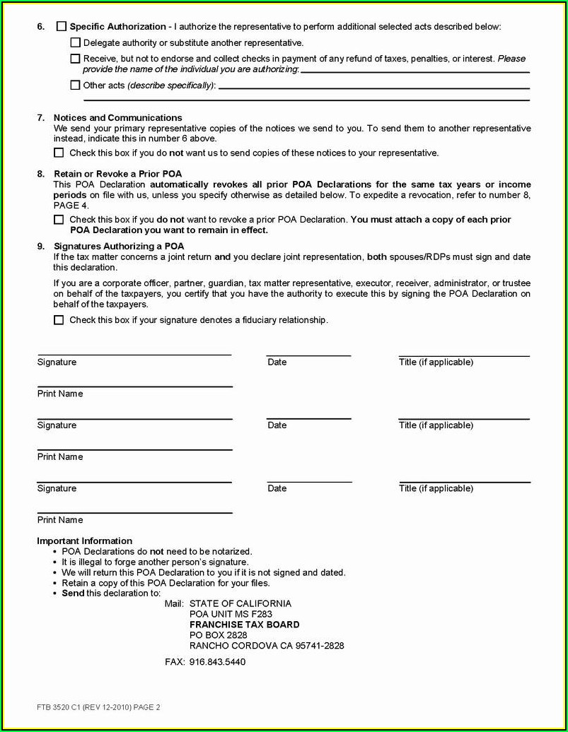 Power Of Attorney Form Indiana Free