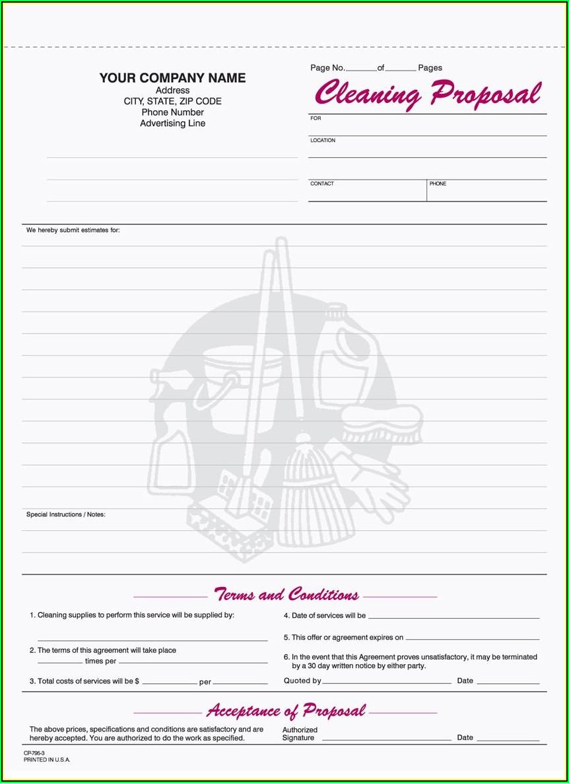 Printable Proposal Forms Free