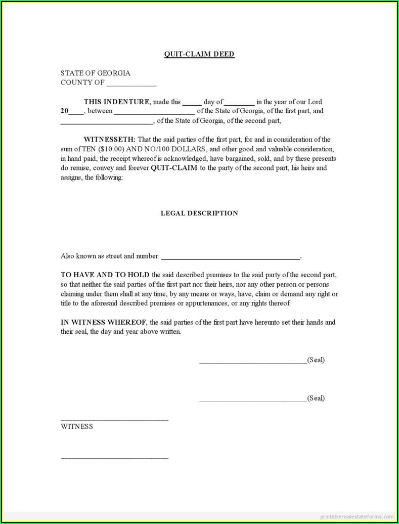 Quit Claim Deed Missouri Form Free