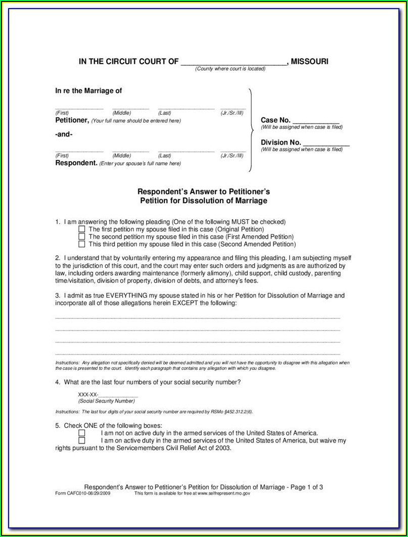Quitclaim Deed Missouri Form