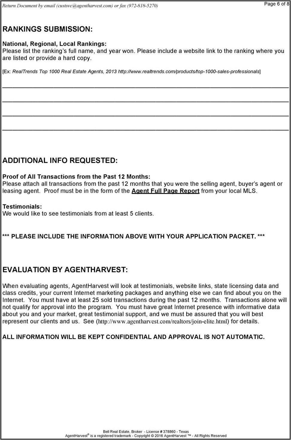 Real Estate Agent Referral Agreement