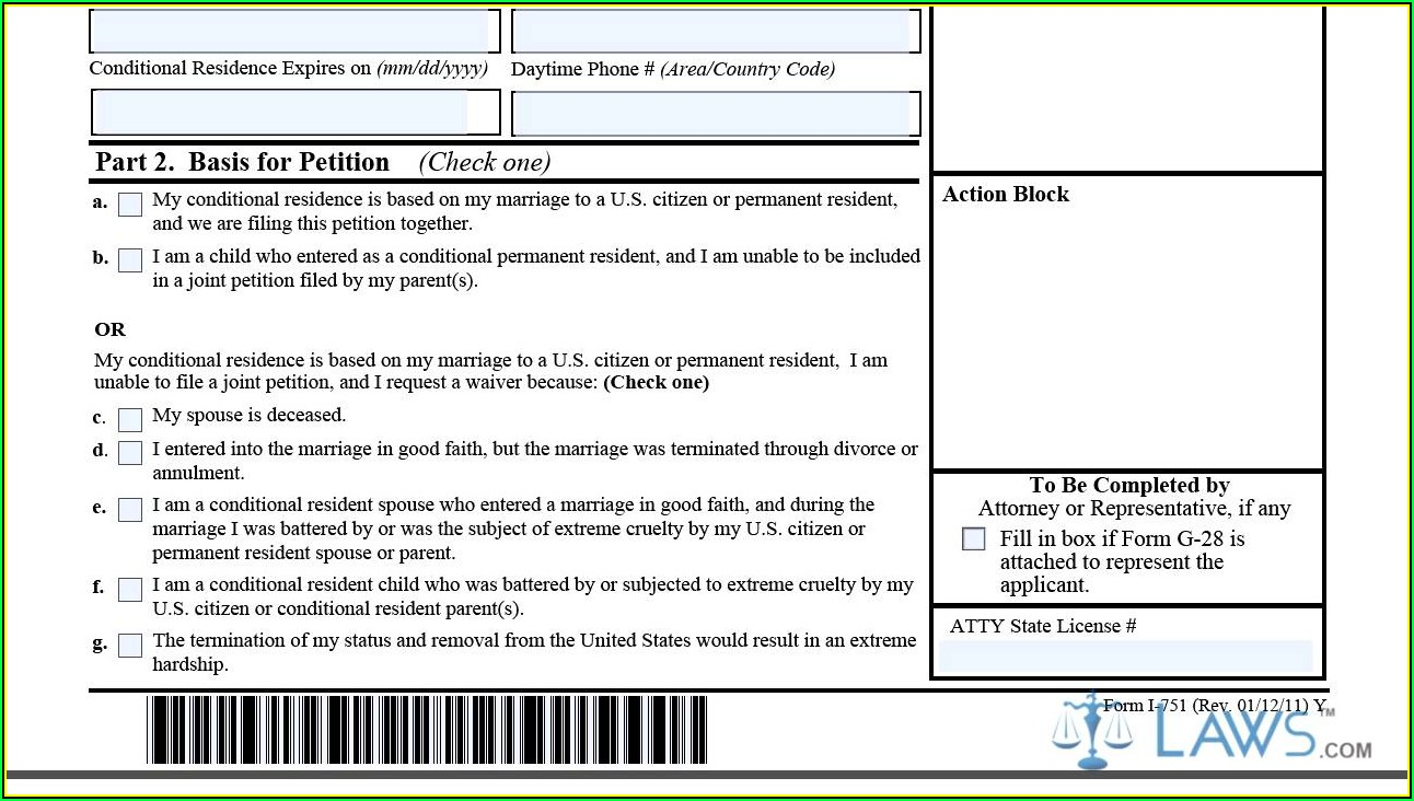 Renewal Of Green Card Form I 751