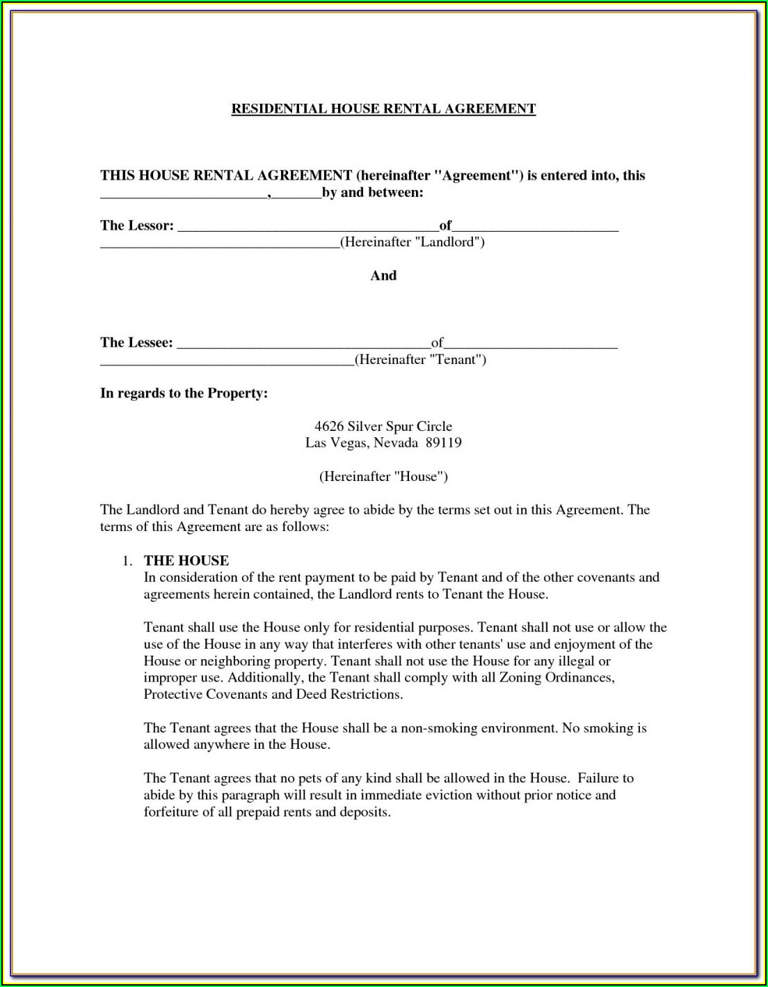 Rental Agreement Forms Portland Oregon