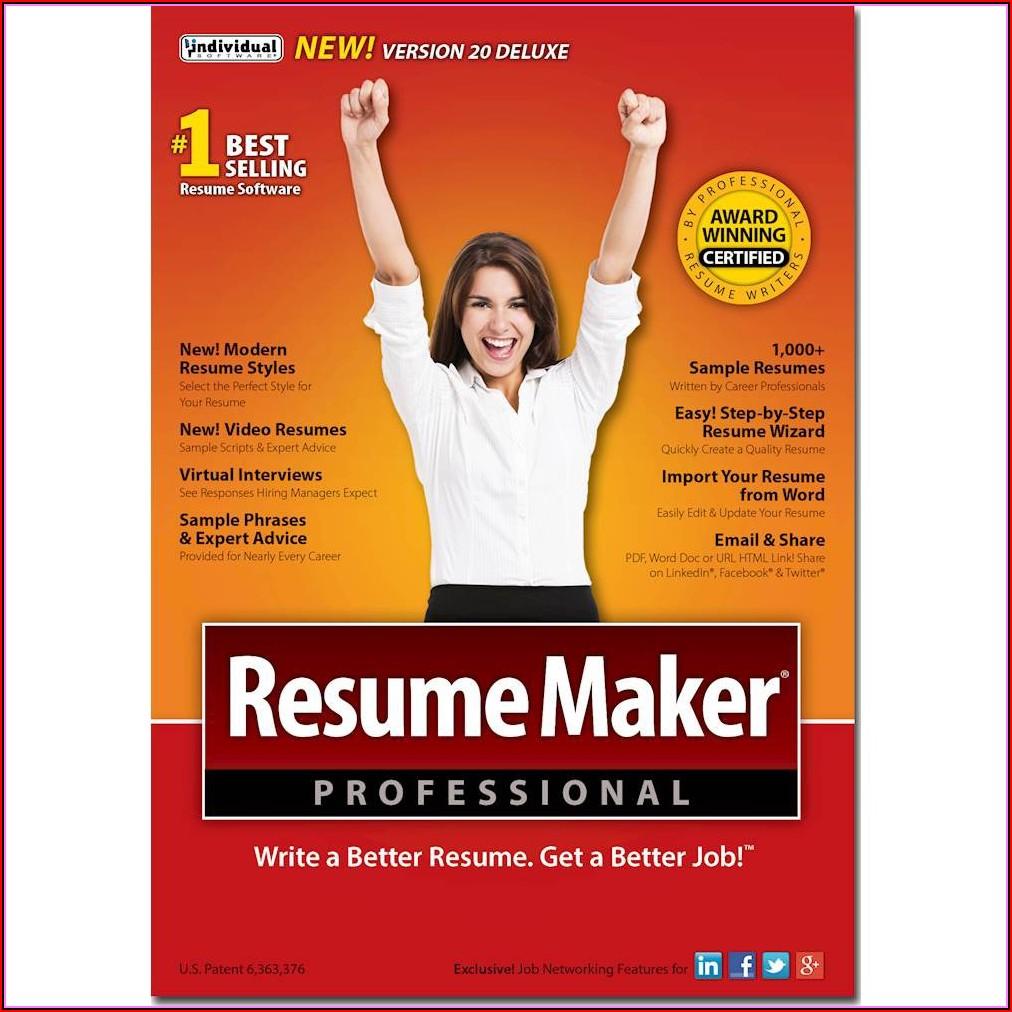 Resume Maker Deluxe 20