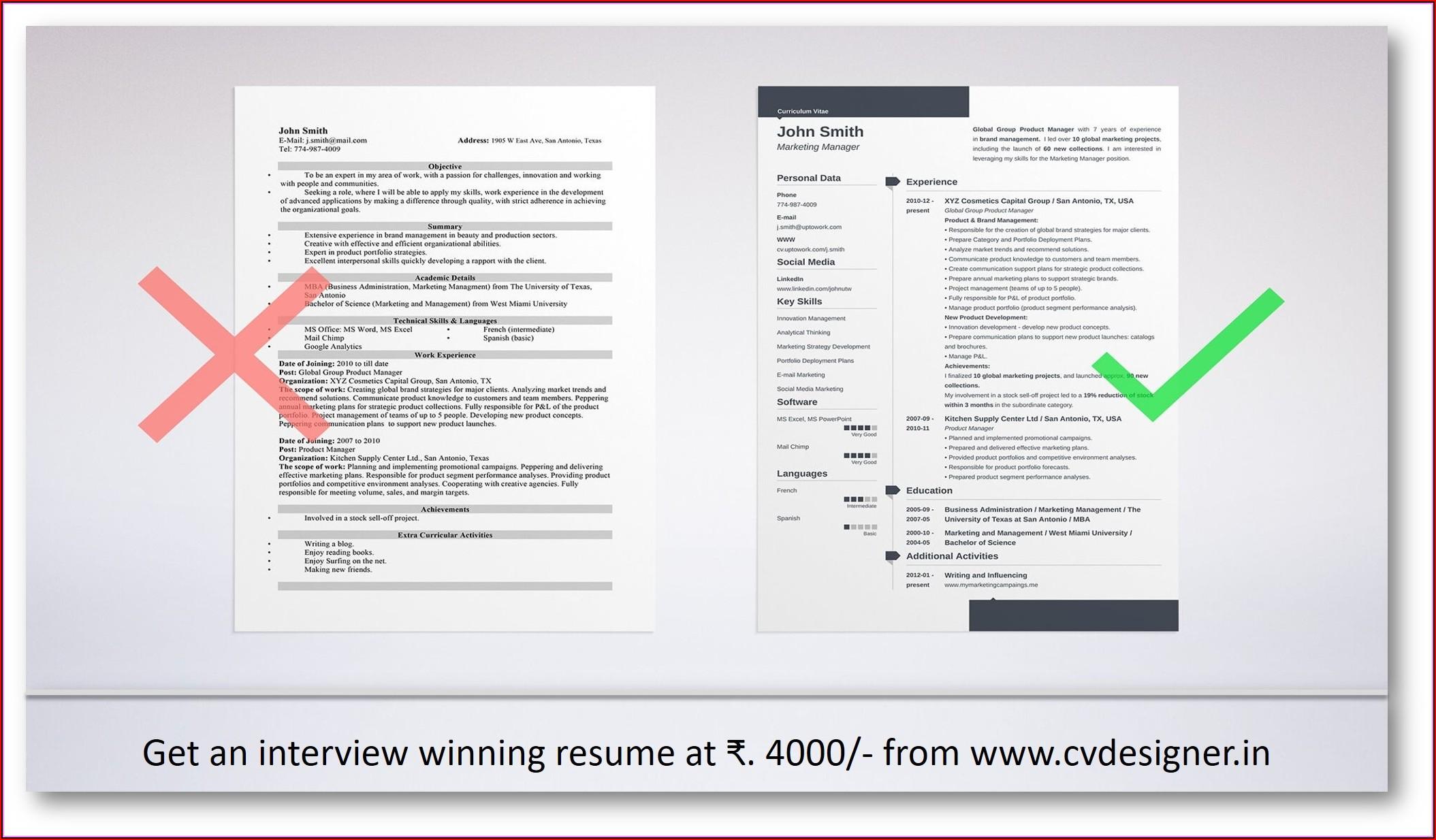 Resume Writing Consultants In Chennai