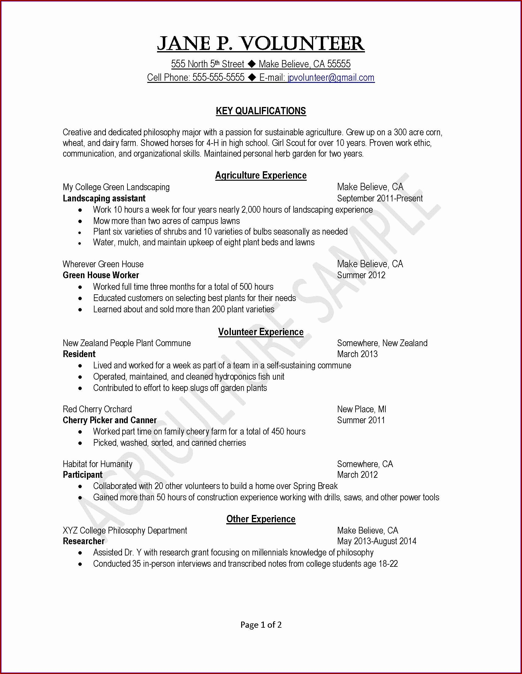 Sample Of Resume For Nurses In The Philippines