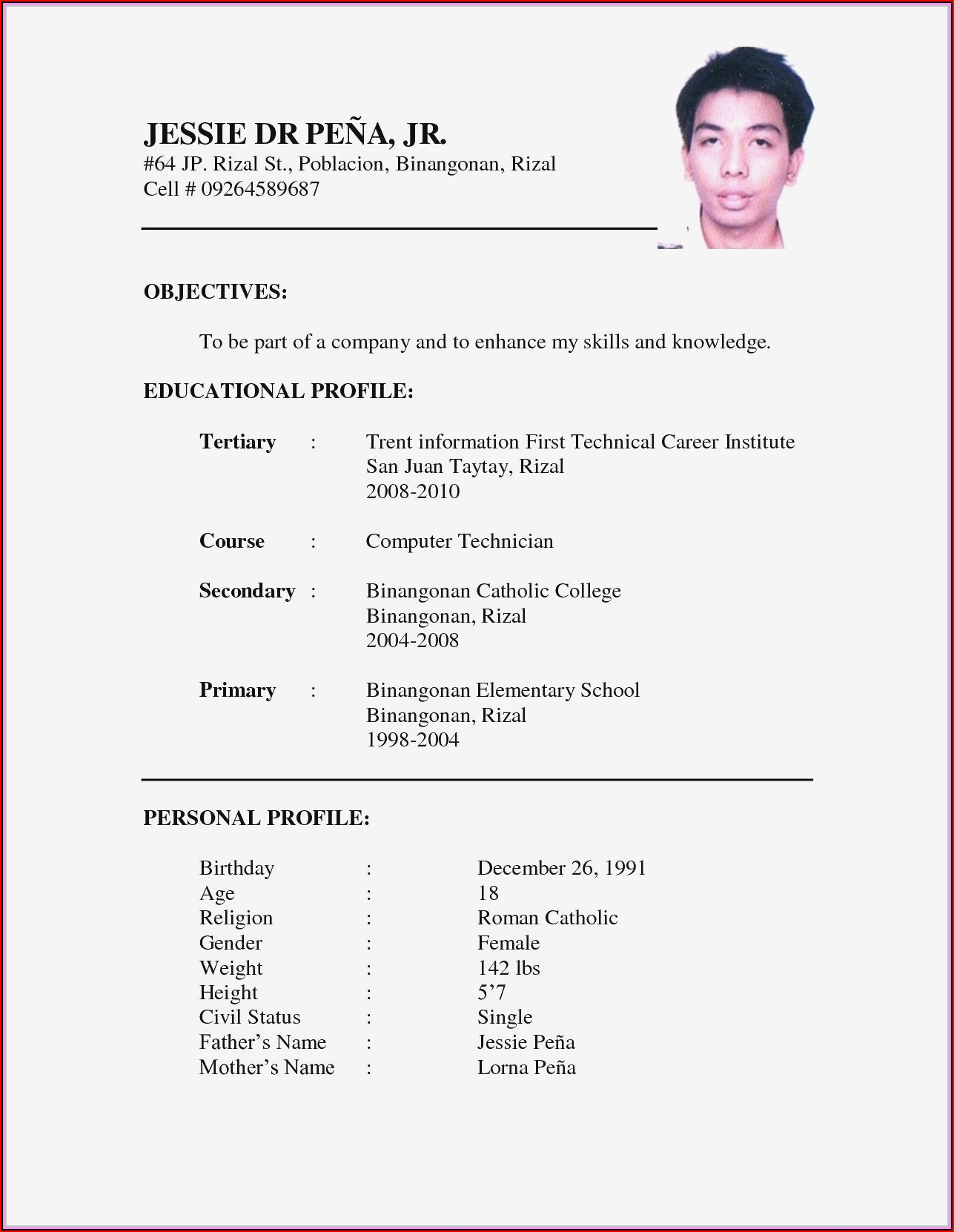 Sample Resume For Nurses With Experience Australia