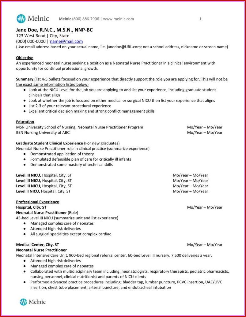 Sample Resume For Nurses With Experience Doc