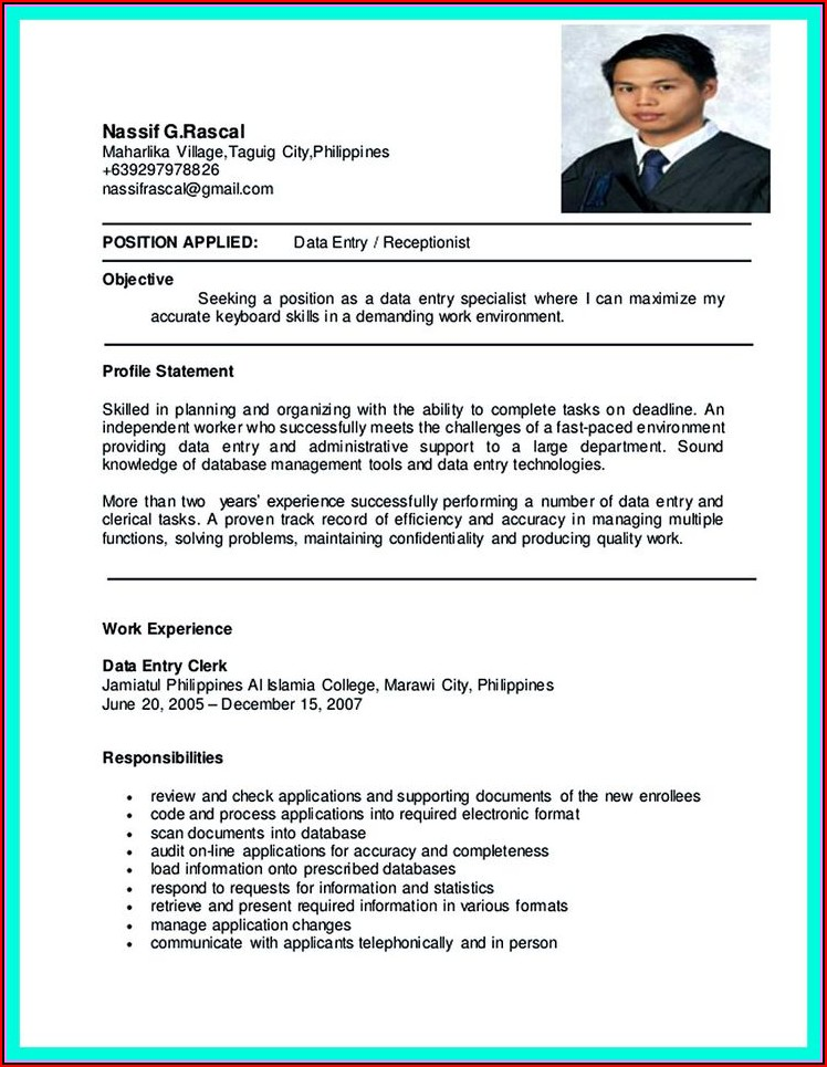 Sample Resume For Nurses With Experience In The Philippines