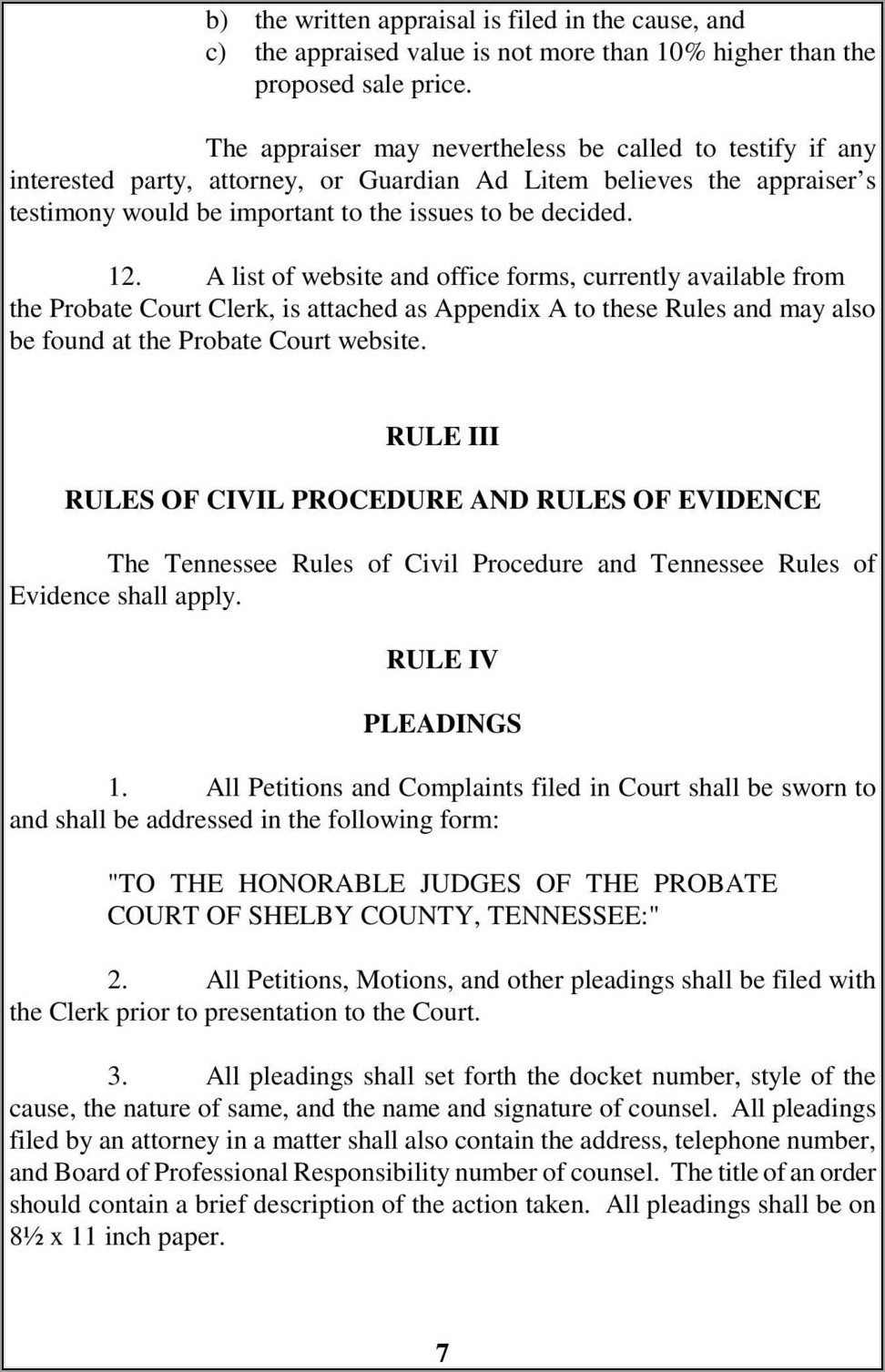 Shelby County Tennessee Divorce Forms