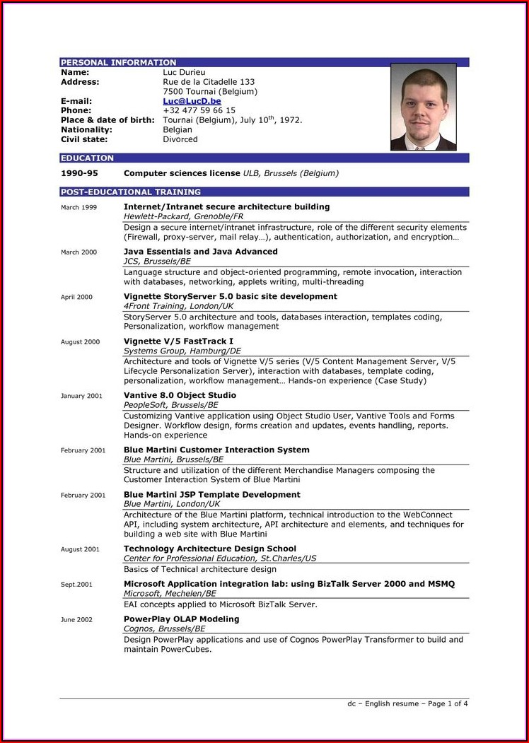Simple Resume Format Download In Ms Word Free