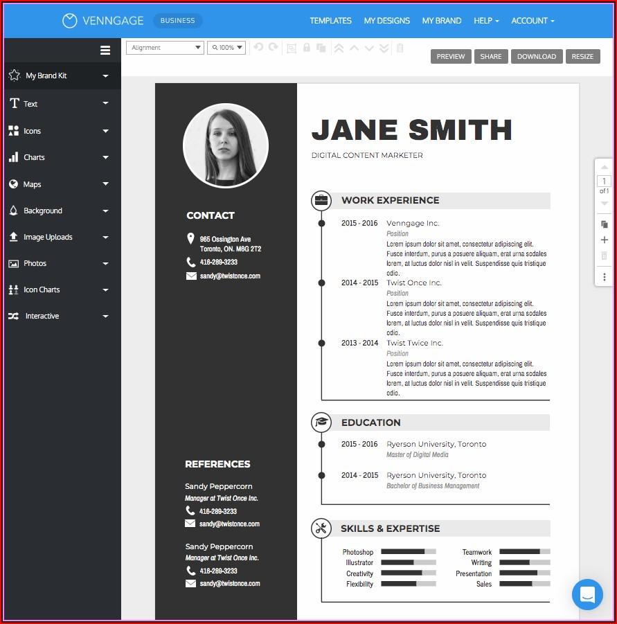 Simple Resume Making Online