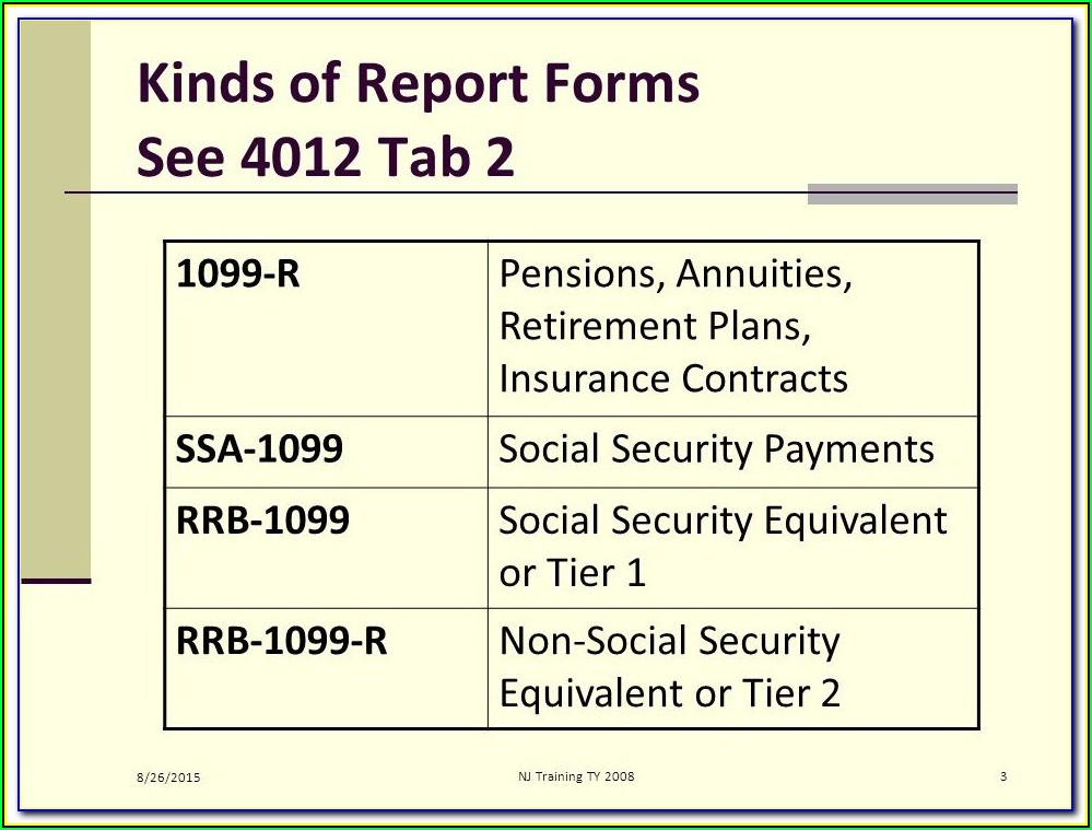 Social Security Benefits Form 1099