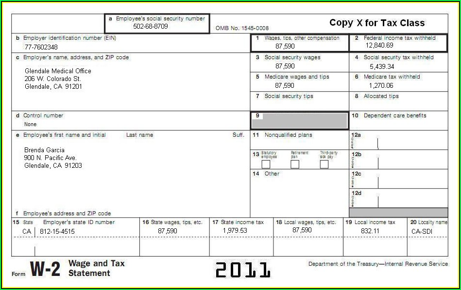 Social Security Benefits Form For Taxes