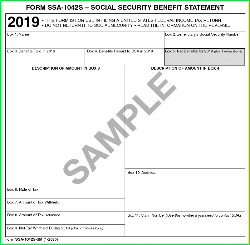 Social Security Benefits Form Irs