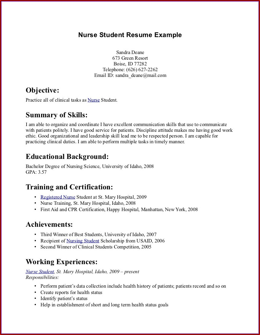 Some Good Resume Format