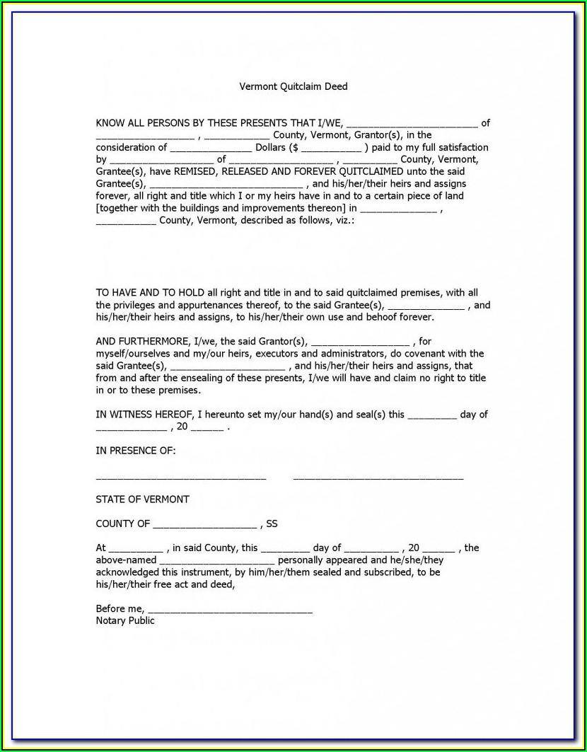 South Carolina Deed Form